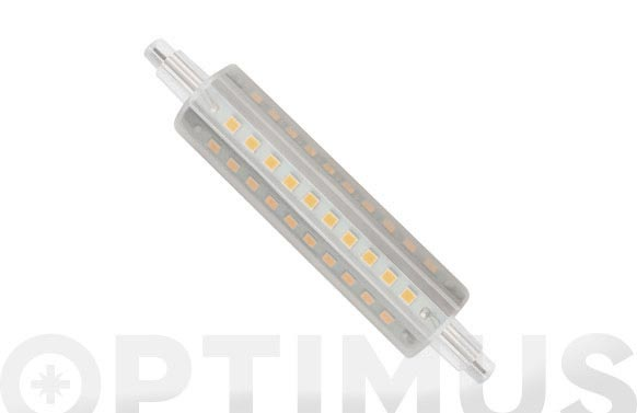 Lampara lineal led 360. r7s 118mm 12w luz calida