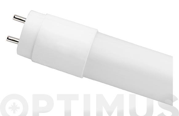 Fluorescente aluminio cristal led t-8 60 cm 9w luz blanca