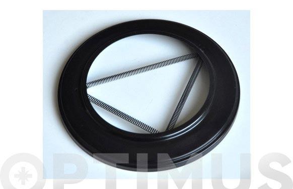 Roseton embellecedor vitrificado negro ø 120 mm