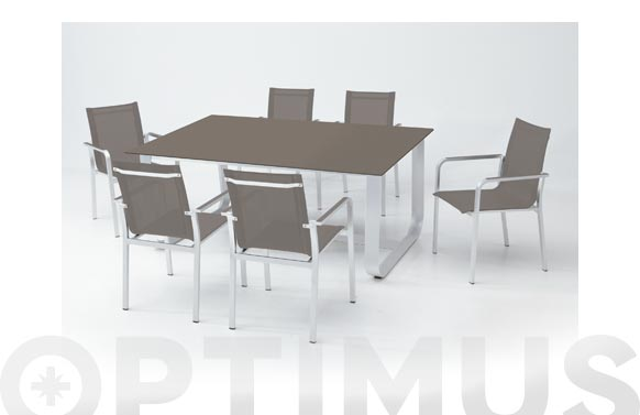 Sillon aluminio/textilene taupe arena