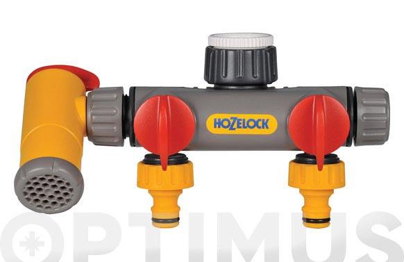 Distribuidor de 2 vias con grifo flowmax