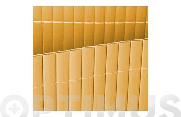 Cañizo plastico simple cara bambu 1,5 x 5 m