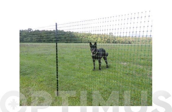 Malla plastica para cercados ranch verde 1,5 x 10 m