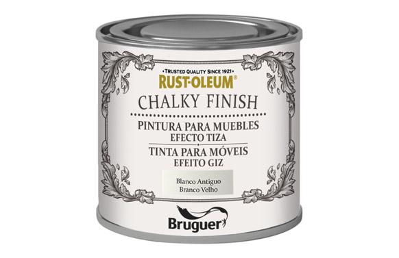 Pintura efecto tiza chalky 125 ml blanco antiguo