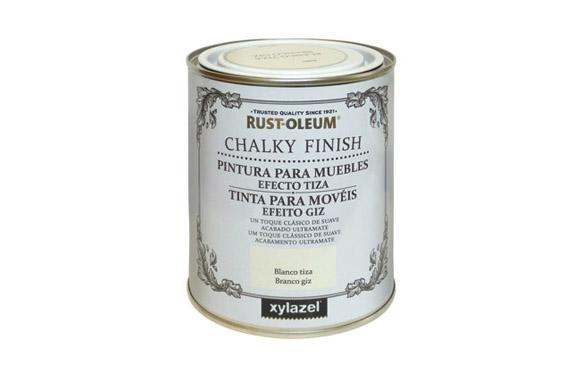 Pintura efecto tiza chalky 750 ml blanco antiguo