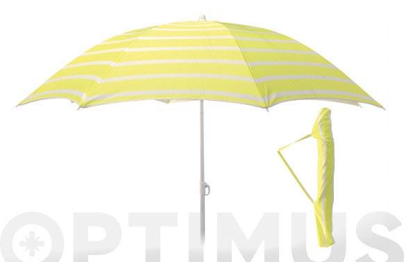 Parasol sombrilla playa ø 180cm upf50+ colores surtidos