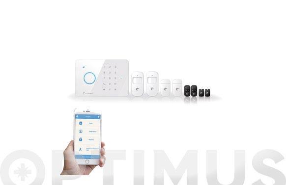 Equipo completo alarma seguridad smartphone