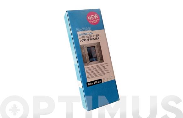 Mosquitera magnetica adaptable negro 120 x 240 cm