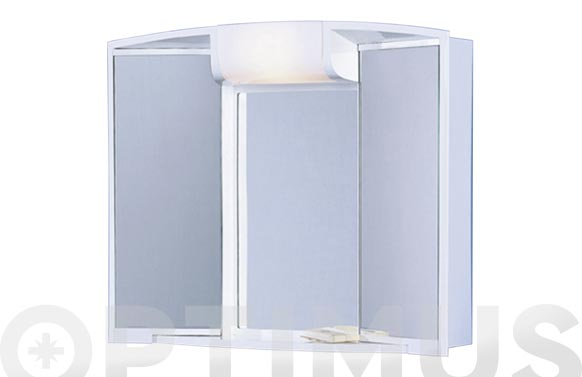 Camerino 2 puertas enchufe luz y cajon 55x50x15