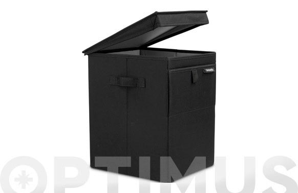 Caja apilable colada negra