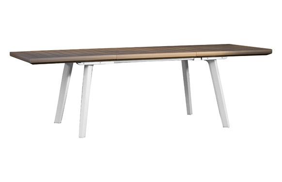 Mesa resina harmony extensible 160-240 x 100 cm blanco/capuchino