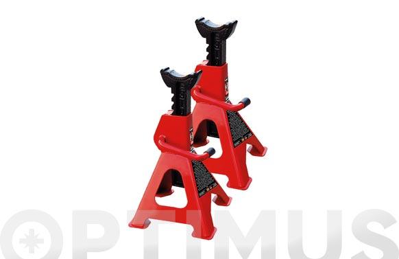 Caballete de elevación 3 toneladas (2 unidades) regulable de 288 mm. a 425 mm.