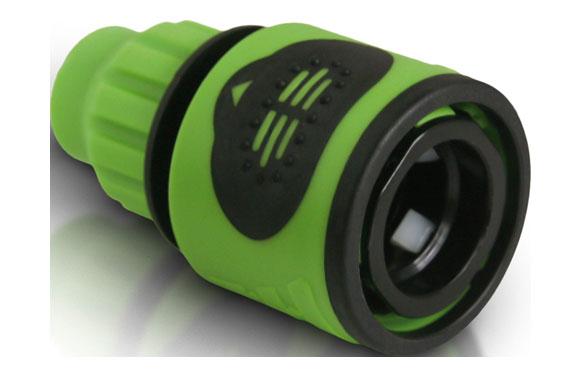 Conector manguera espiral 9 mm bicomponente