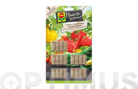 Fertilizante - varitas huerto urbano y frutales 20 unidades