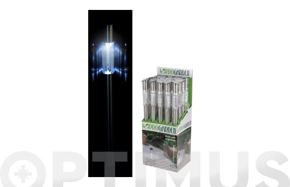 Lampara solar acero inoxidable 70x5 cm