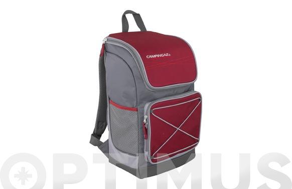Nevera flexible mochila granate/gris 18 litros