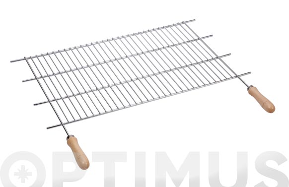 Parrilla recortable zinc mango madera 100 x 40 cm (corte 82-102 cm)