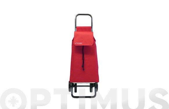 Carro compra nilon dos + 2 rojo