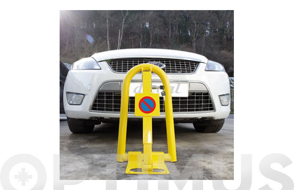 Barrera parking con cerradura dimensiones: 300 x 500 x 270 mm.