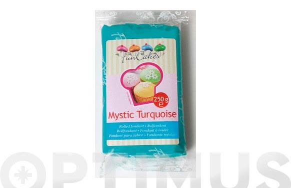 Fondant color 250 gr turquesa mistica