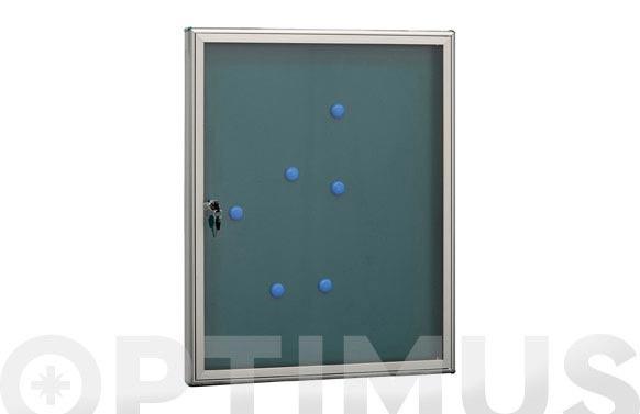 Panel de anuncios vertical plata 4 hojas 69 x 55 cm