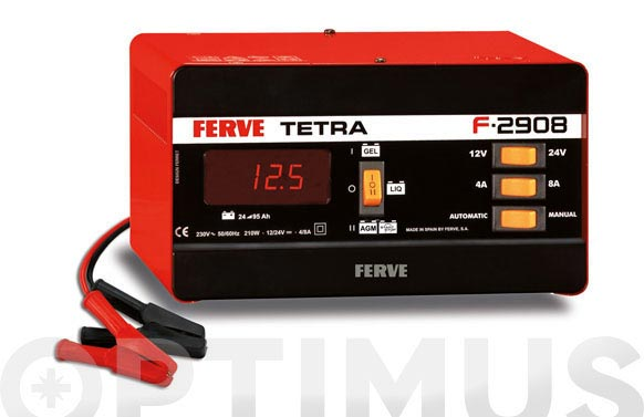 Cargador bateria tetra 12 v/24 v, 4-8 a