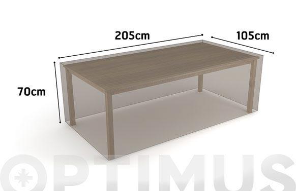 Funda mesa rectangular vison 205 x 105 x h 70