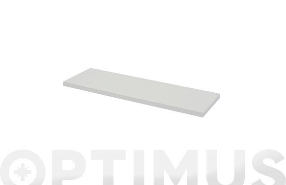 Estante rectangular 4xs blanco brillo-1,8x60x20 cm