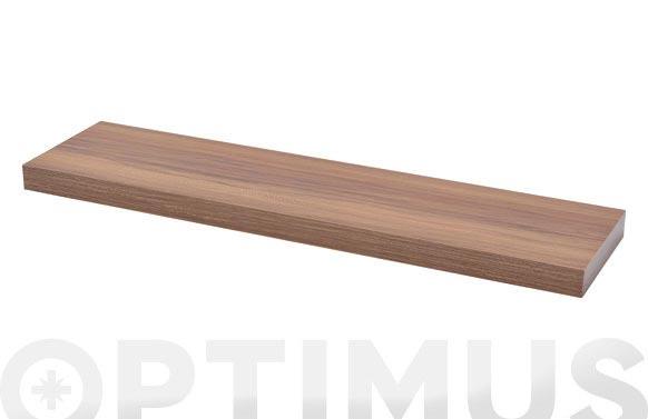 Estante atamborado rectangular xl4 nogal-3,8x80x20 cm
