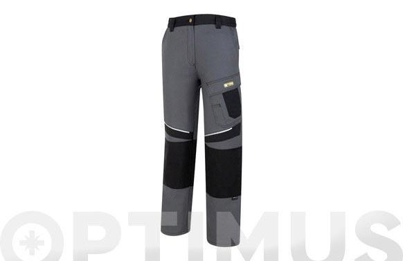 Pantalon tergal 245 gr canvas line t 42/44 gris/negro