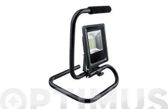 Foco proyector led con soporte 10 w luz fria 1000 lumens