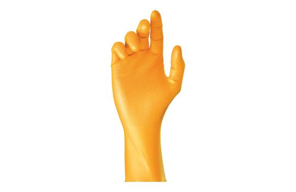 Guante desechable grippaz naranja * 50 uds t s