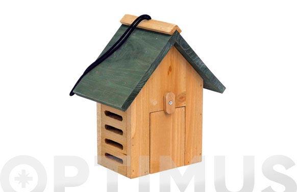 Caseta pajaros madera para pared 20 x 12 x h23 cm