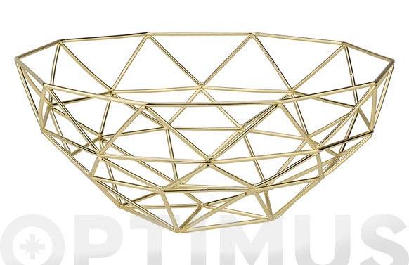 Frutero geo metal/oro ø28,5x12,2 cm
