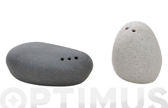 Salero pimentero ceramico stone