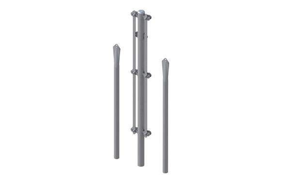 Poste esquinero galvanizado kit 1/1,3 m
