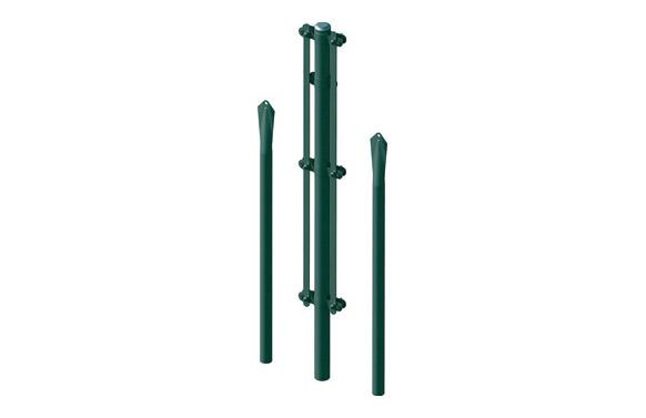 Poste esquinero plastificado verde kit 1/1,3 m