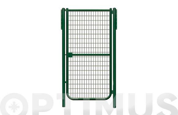 Puerta malla electrosoldada plastificada verde 1-h 1000x1000