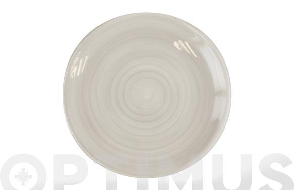 Plato fine china gris postre 20 cm