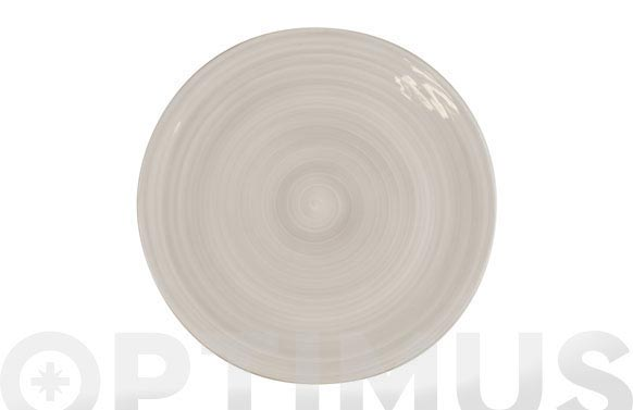 Plato fine china gris presentacion 30 cm