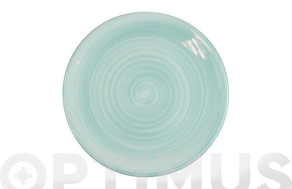 Plato fine china verde presentacion 30 cm
