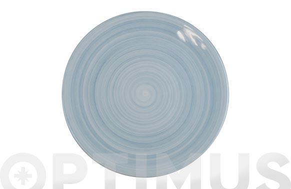 Plato fine china azul llano 25,2 cm