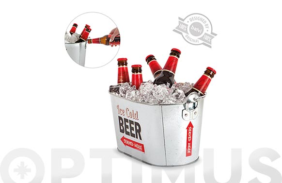 Cubo metal enfriador cerveza party time
