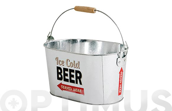 Cubo metal enfriador cerveza party time