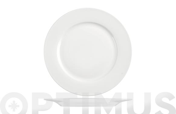 Plato new bone china ala blanco postre 20 cm