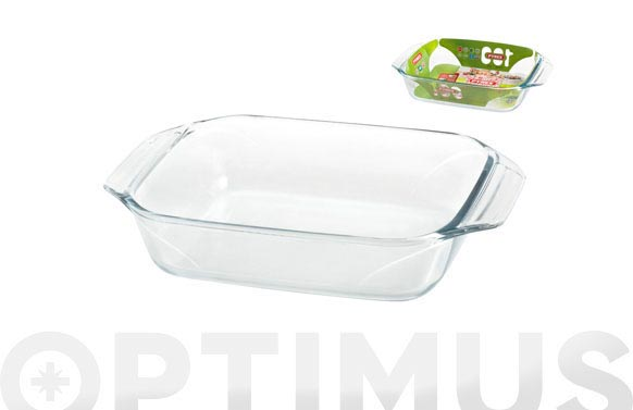 Bandeja vidrio rectangular 31x20 cm