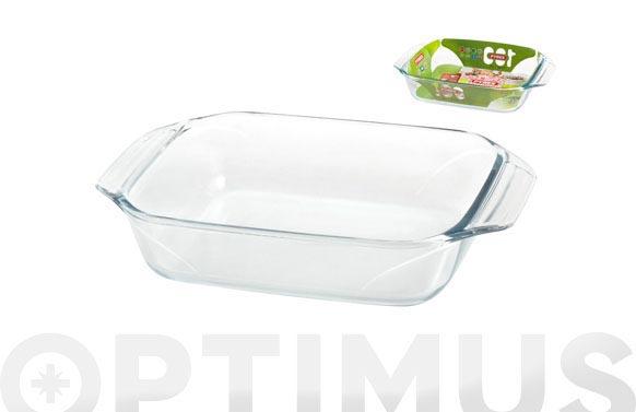 Bandeja vidrio rectangular 35x23 cm