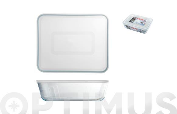 Contenedor portalimentos vidrio pyrex rectangular - 1,6 l