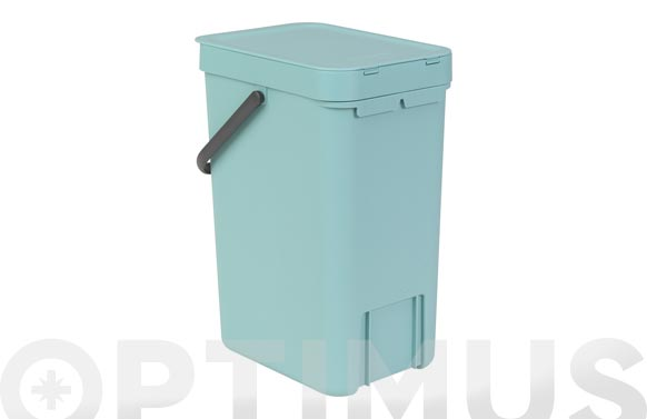 Cubo reciclaje sort & go' menta 12 l