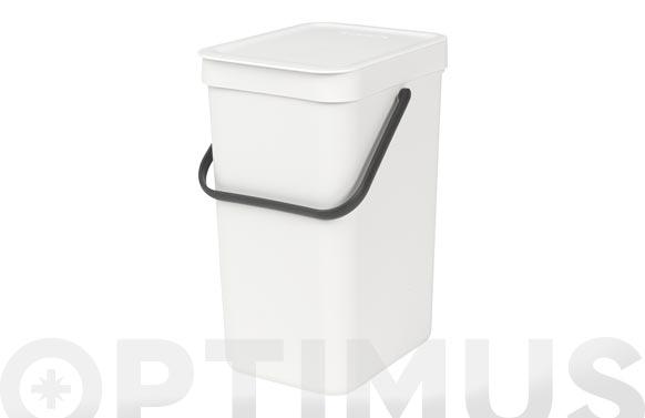 Cubo reciclaje sort & go' blanco 12 l